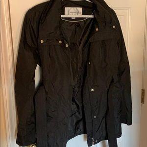 Black water proof rain jacket